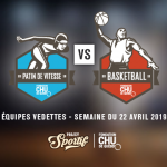 Visuel rencontre basket VS patinage de vitesse